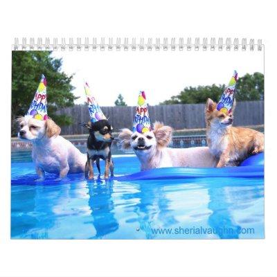 Dogs Living As Humans by Sherial Vaughn Wall Calendar