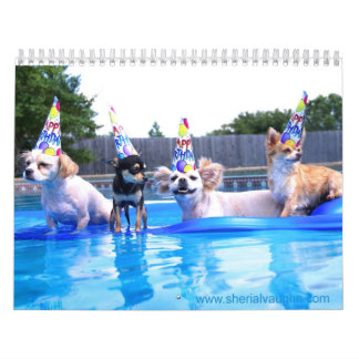 Dogs Living As Humans by Sherial Vaughn Calendar