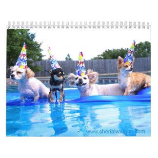 Dogs Living As Humans by Sherial Vaughn Calendar