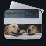 """Dogs Looking Out a Window Laptop Sleeve<br><div class=""""desc"""">Animals-&gt;Dog</div>"""