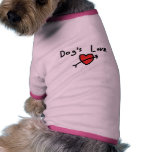 Dog's love dog t-shirt
