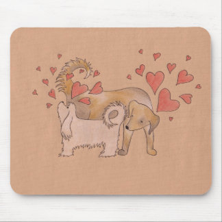 Dogs' Love Mouse Pad