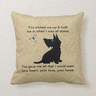 Dog's Love Too Throw Pillow