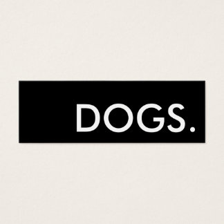 dogs. loyalty punch card