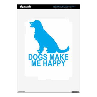 DOGS MAKE ME HAPPY . SKIN FOR iPad 3