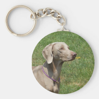 Dogs make our lives whole - Weimaraner Keychain