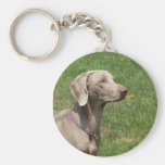 Dogs make our lives whole - Weimaraner Keychains