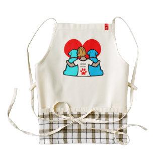 dog's mom zazzle HEART apron