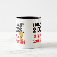 Dogs mug - don't judge me!