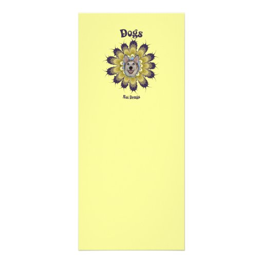 Dogs Not Drugs Rack Card