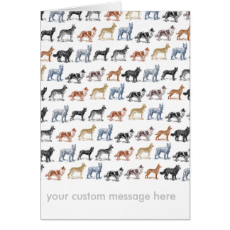 Dogs Of All Kinds Card