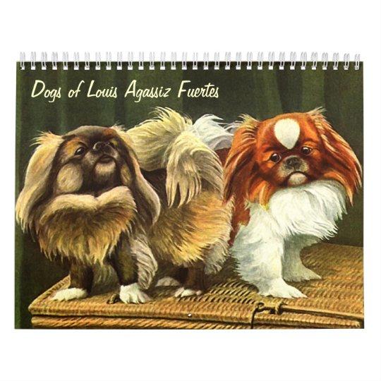 Dogs of Louis Agassiz Fuertes Calendar