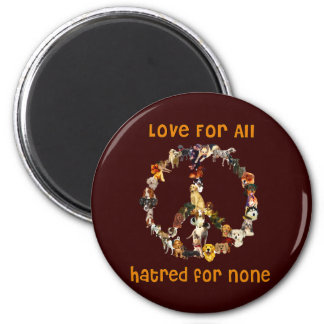 Dogs Of Peace 2 Inch Round Magnet