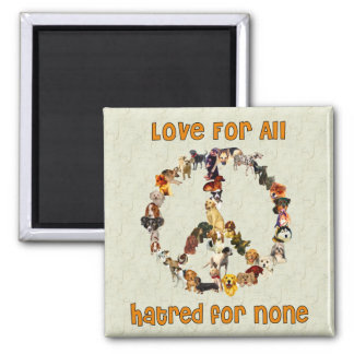 Dogs Of Peace 2 Inch Square Magnet