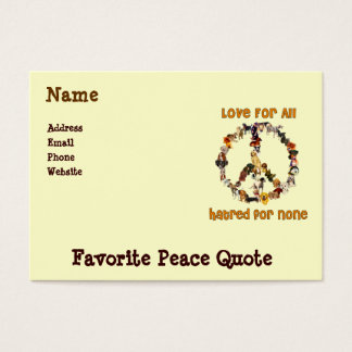 Dogs Of Peace Business Card