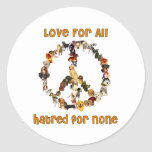 Dogs Of Peace Classic Round Sticker