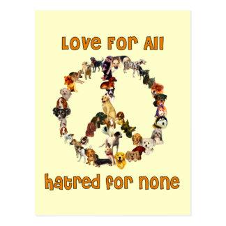 Dogs Of Peace Postcard