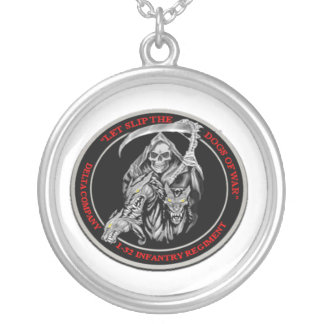 Dogs of War Silver Plated Necklace