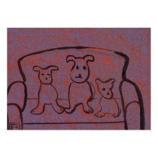 (Dogs on a settee business Card) Large Business Card
