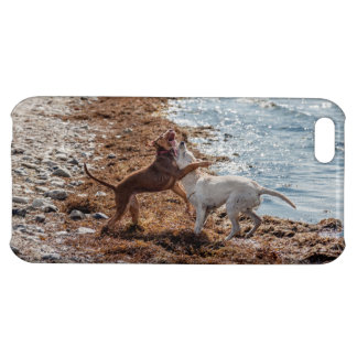 Dogs on beach cover for iPhone 5C