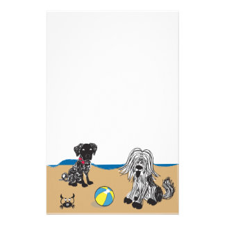 Dogs on Beach Stationery