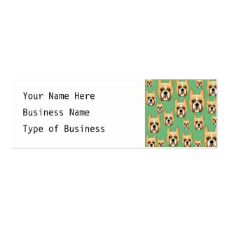 Dogs on Green. Boxers. Mini Business Card