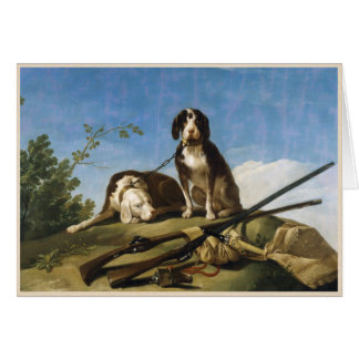 Dogs on leash Francisco José de Goya masterpiece Card