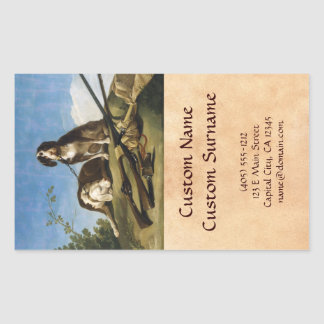 Dogs on leash Francisco José de Goya masterpiece Rectangular Sticker