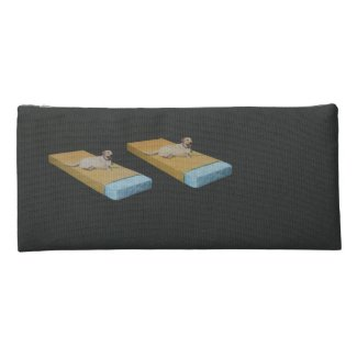 Dogs on Mattresses Pencil Case