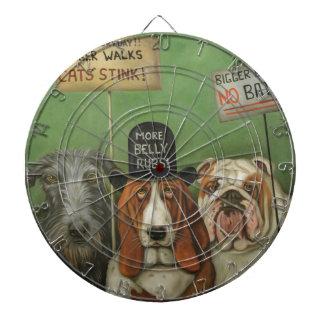 Dogs On Strike Dart Board