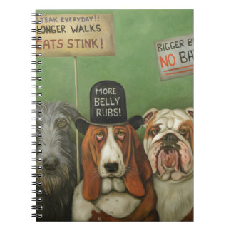 Dogs On Strike Note Books