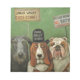 Dogs On Strike Notepad
