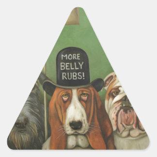 Dogs On Strike Triangle Sticker