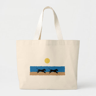 Dogs on the Beach Tote Bag