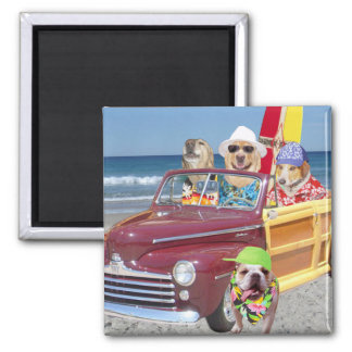 Dogs on the Beach Magnet