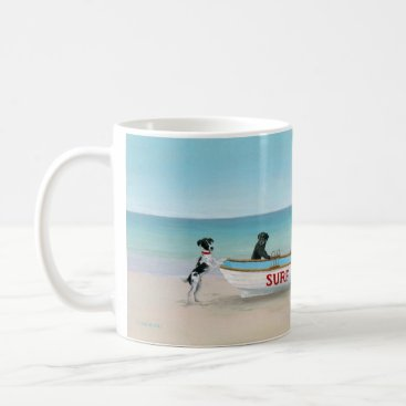 Beach Themed Dogs on the Beach Themed Mug Themed