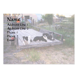 Dogs On Truck Bed Large Business Card