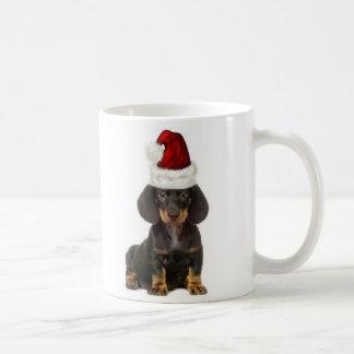 Dogs~Original Ditzy Mug~Dachshund~Christmas Taza