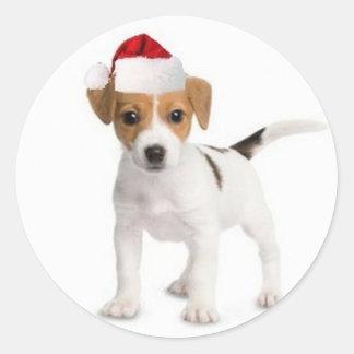 Dogs~Original Ditzy Sticker~Jack Russell Terrier Pegatina Redonda