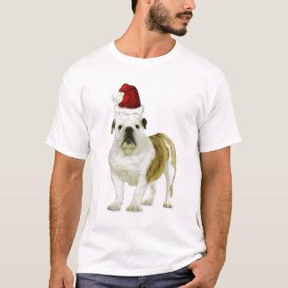 Dogs~Original Ditzy Tee~Bulldog~Christmas Playera