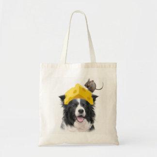 Dogs~Original Ditzy Tote~Border Collie~Halloween Bolsa Tela Barata