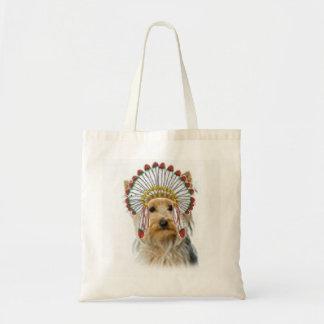 Dogs Original Ditzy Tote Yorkie Bolsas Lienzo
