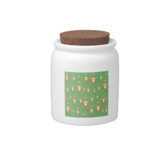 Dogs Pattern, Boxers on Green. Candy Dish
