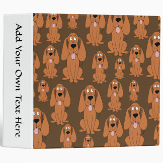 Dogs Pattern. Hounds, on Brown. 3 Ring Binder