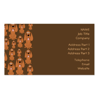 Dogs Pattern. Hounds, on Brown. Business Card
