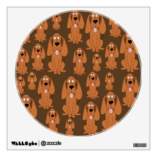 Dogs Pattern. Hounds, on Brown. Wall Sticker