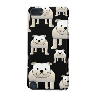Dogs Pattern. White Bulldogs on Black. iPod Touch 5G Case
