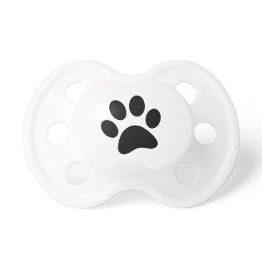 Beach Themed Dog's Paw Print Pacifier