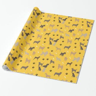 Dogs Paw Prints Pets Bone Gift Wrap Wrapping Paper