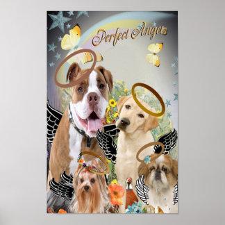 Dogs Perfect Angels Art Print